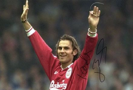 Patrik Berger, Liverpool & Czech Republic, signed 12x8 inch photo.